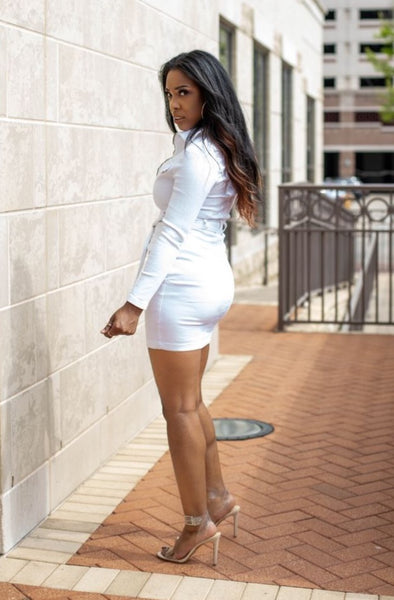 White Denim Dress - So Kate Boutique
