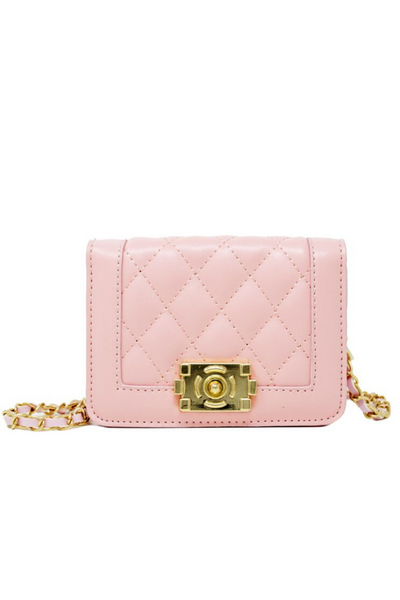 Pink Boy Flap Quilted Bag