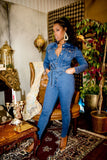 Long Sleeve Denim Jumpsuit - So Kate Boutique