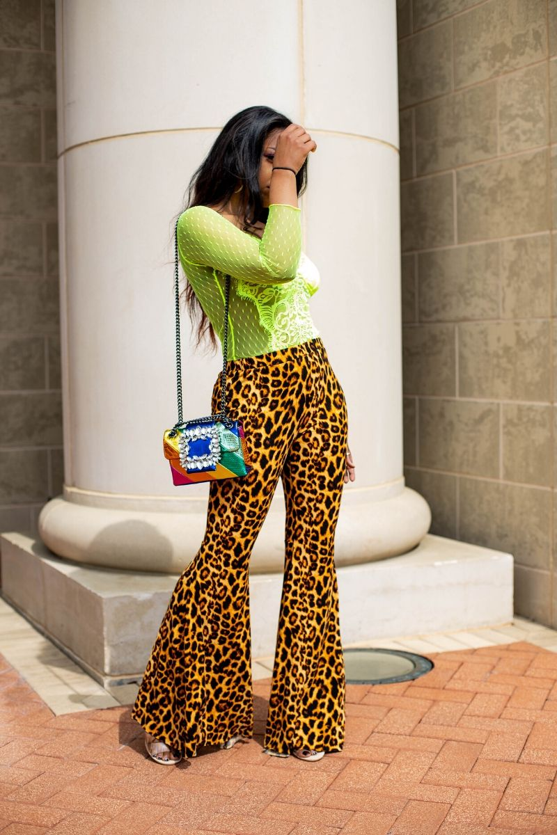 Leopard Bell Bottoms - So Kate Boutique