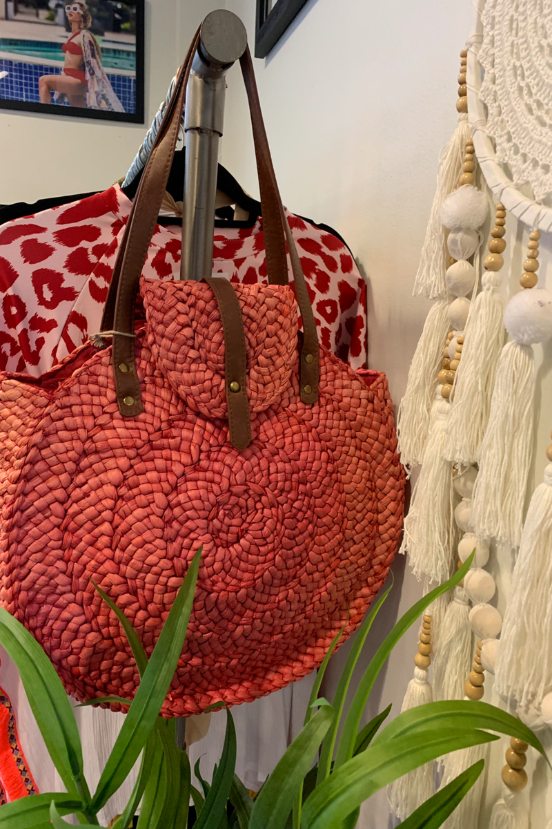 Red Bamboo Bag - So Kate Boutique