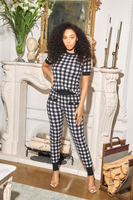 HOUNDSTOOTH KNIT SET