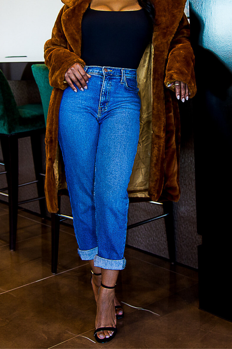 Cropped Mom Jeans - So Kate Boutique