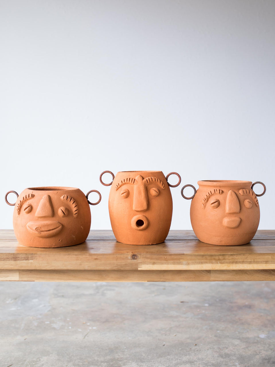 Clay Face Planter