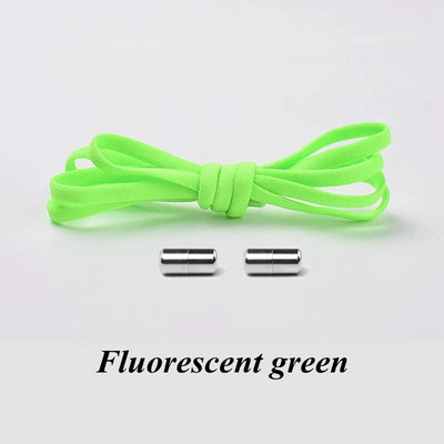 Versatile No-Tie Quick Round Locking Elastic Shoe Laces