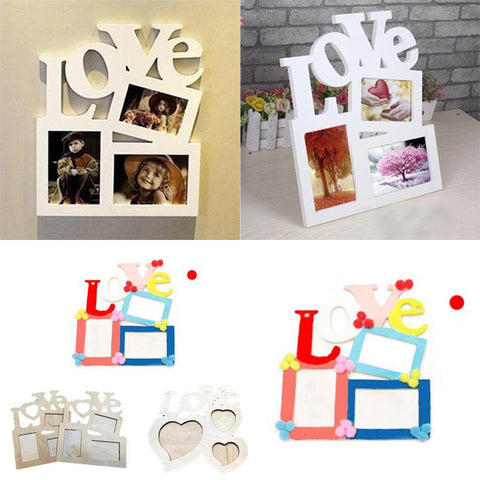 MODERN Fashion Lovely Sweet Wooden Love Hollow Photo Picture Frame Family, BRAND NEW Home Decor. ENJOY SHOPPING