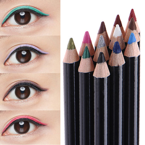 12 Colors Waterproof Eyeliner Pencil Long-lasting Eye Liner Pencils Makeup Cosmetics For Eyes Make up Set Beauty Tools