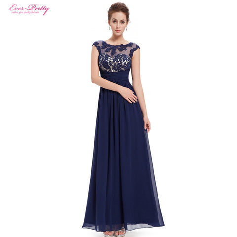Chiffon Formal Evening Dress for Women, Lovelly Fashion Long Elegant Maxi Black Lacy Evening Dress