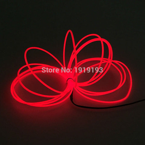 1m/2m/3m/4m/5m Neon Light Dance Party Decor Light Neon LED lamp Flexible EL Wire Rope Tube Waterproof LED Strip With Controller