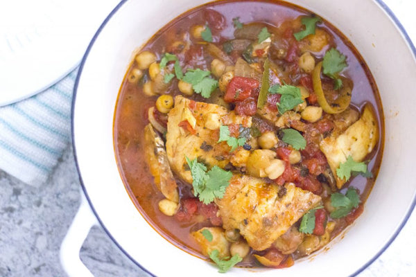 North African Fish & Chickpea Stew