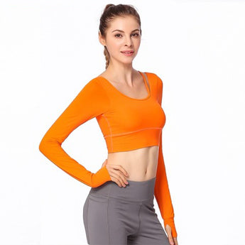 Long Sleeve Yoga Fitness Tank Top