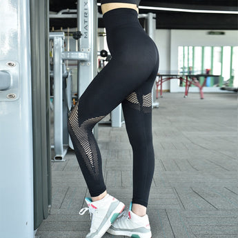 Seamless High Waist Yoga Fitness Pants