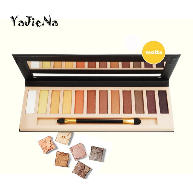 Branded Cosmetic Makeup Glitter Shimmer Matte Eye Shadow Palette Make Up 12 Colors Eyeshadow Palette Nudes Matte Women gift