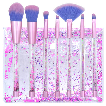 Hot 7 Pcs Makeup Tools Crystal Makeup Brush Womens Fashion