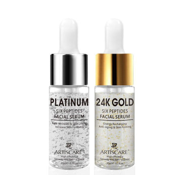 2pcs Platinum + 24k Gold Anti-Wrinkle, Anti-aging Serum 20ml - Ime2s