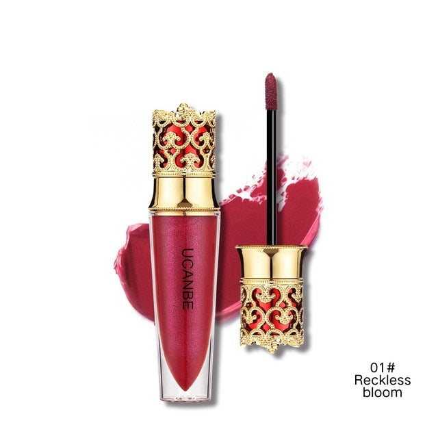 Crown Velvet 4 Colors Matte Lipstick and 6 Colors Lipgloss - Ime2s
