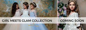 <alt>little girls wearing flower girl dresses from girl meets glam collection coming soon by miele moda</alt>