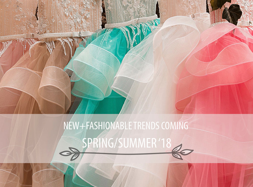 <alt>beautiful spring summer girls tulle dresses in spring colors with pretty flowers on a rack sneak peek</alt>
