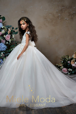 Abigail Flower Girl Dress Pageant Dress-Flower Girl Dress-Miele Moda