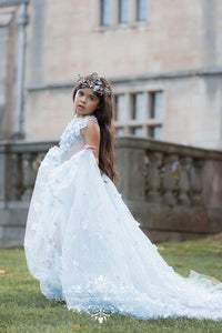 Pretty girl wearing Afina Butterflies Crystal Tiara-by Miele Moda Boutique