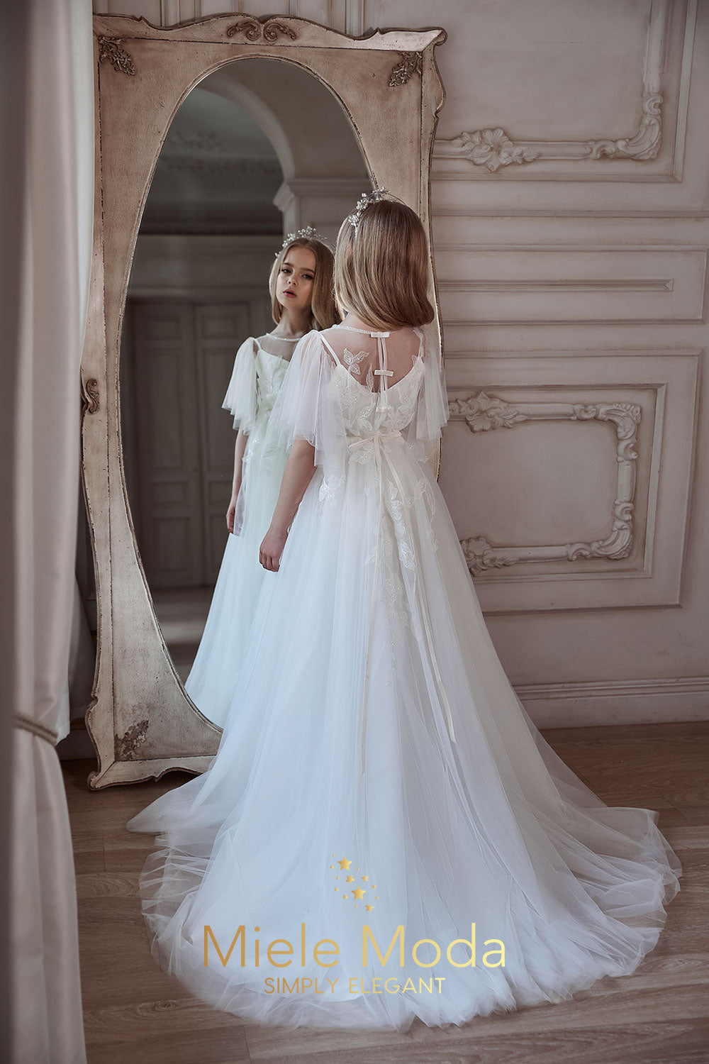 Agnes Flower Girl Communion Dress