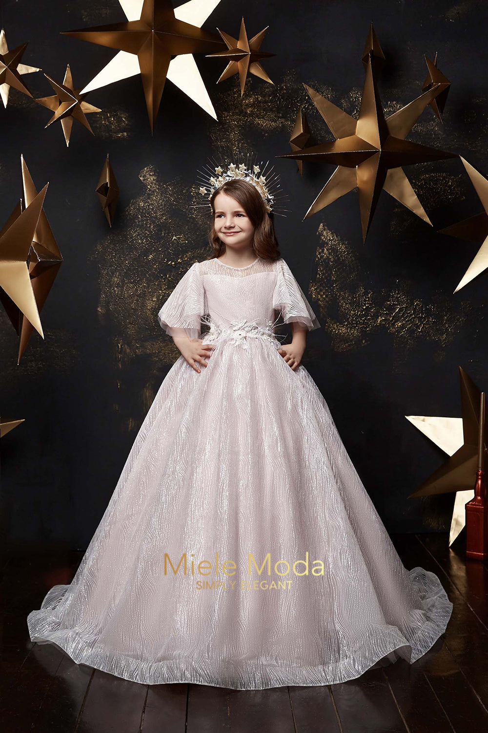 Alina Birthday Party Dress in Pale Pink