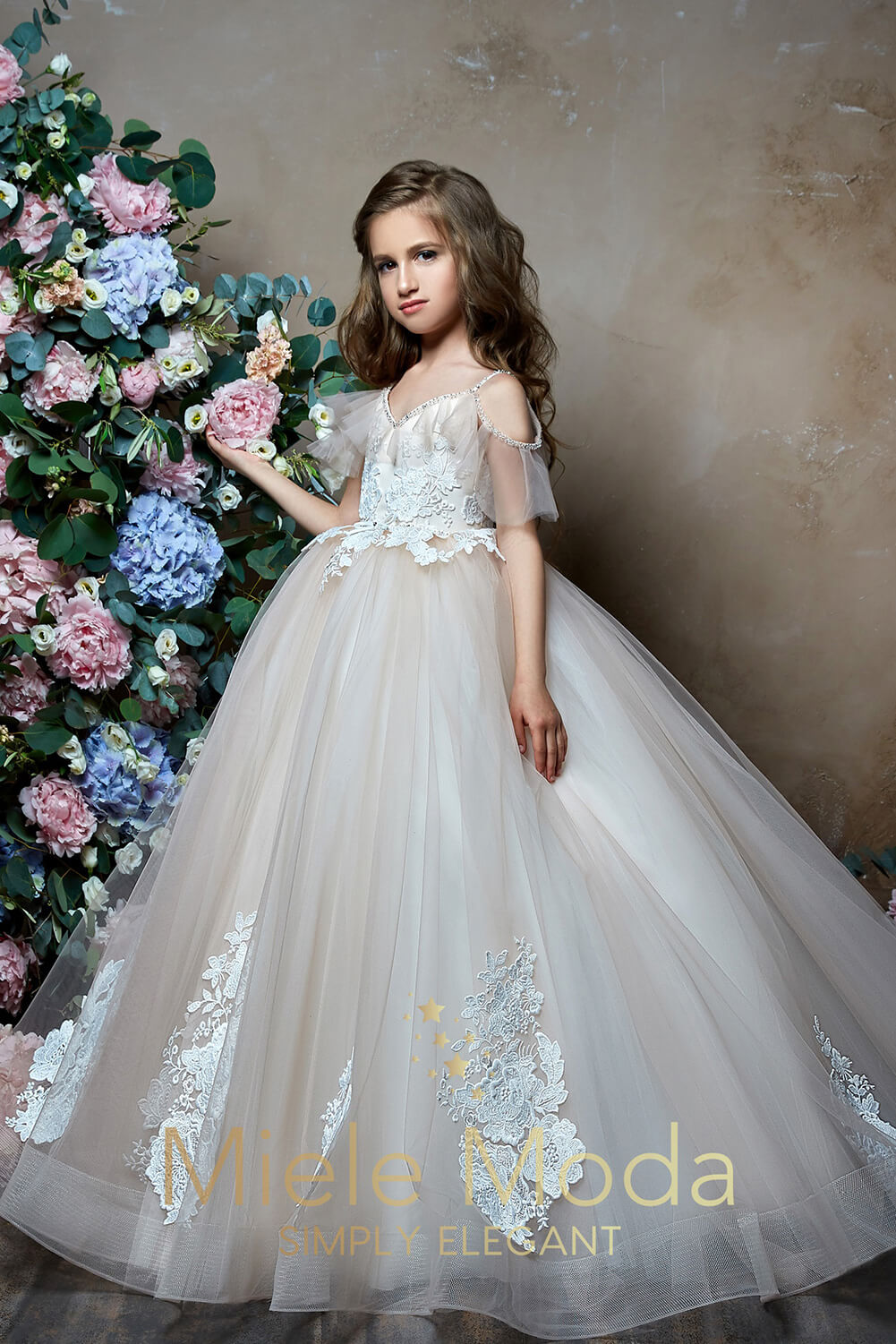 Athena Flower Girl Dress Pageant Dress-Flower Girl Dress-Miele Moda