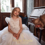 Georgette Flower Girl Couture Dress