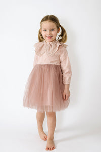 Pretty girl wearing Maddy Vintage Style Lace Dress - 2 Colors-by Miele Moda Boutique