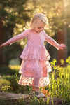 Melanie Tulle Polka Dot Dress in Pink-Little Girl Dress-Miele Moda