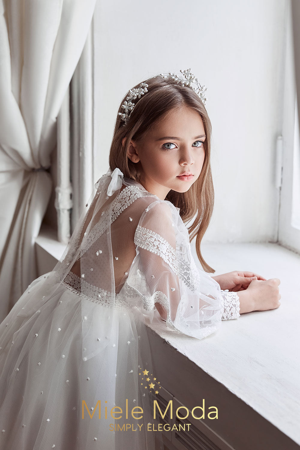 Mélanie Flower Girl Couture Lace Dress