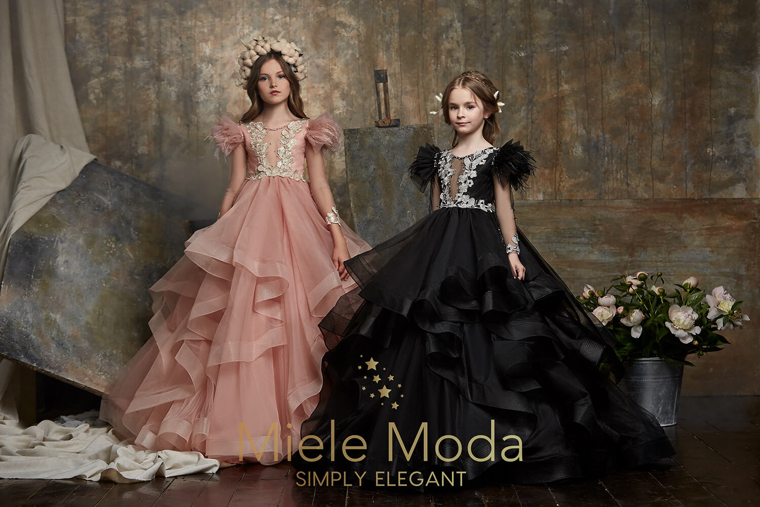 Zara Flower Girl Couture Dress-Flower Girl Dress-Miele Moda