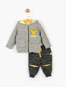 Baby's Hooded Outfit Set - 3 Pieces