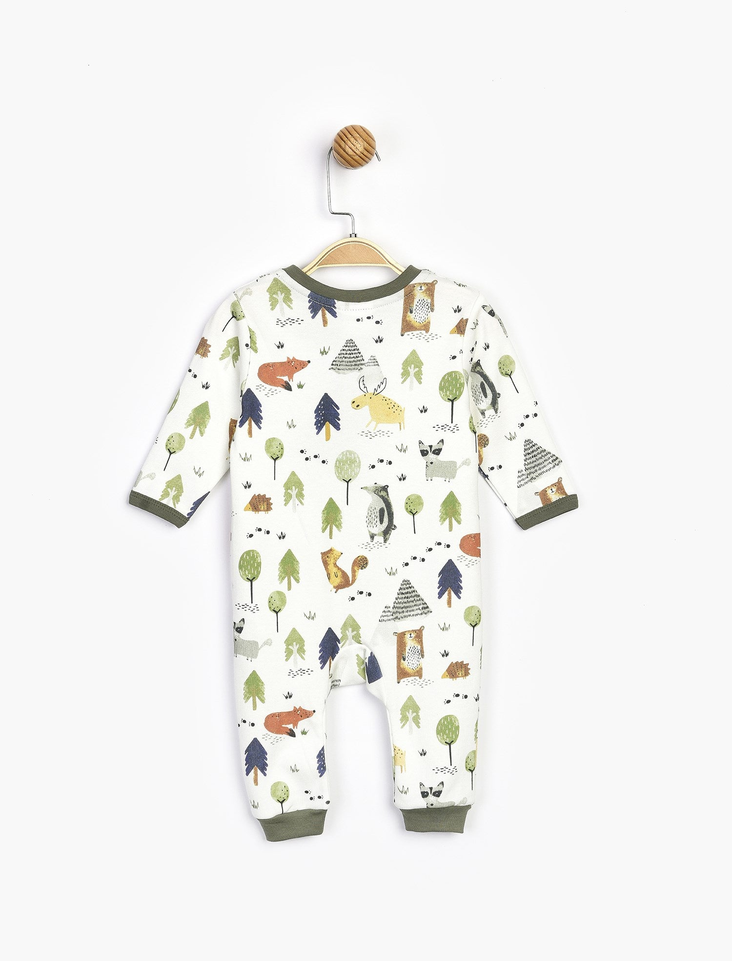 Baby Boy's Printed White Romper