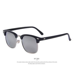 MERRY'S Men Retro Rivet Polarized Sunglasses Classic Brand Designer Unisex Polaroid Sunglasses UV400
