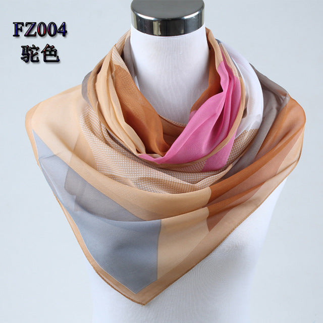 spring new 2017 fashion women silk scarf chiffon shawls geometric print thin long polyester scarves foulard women 004