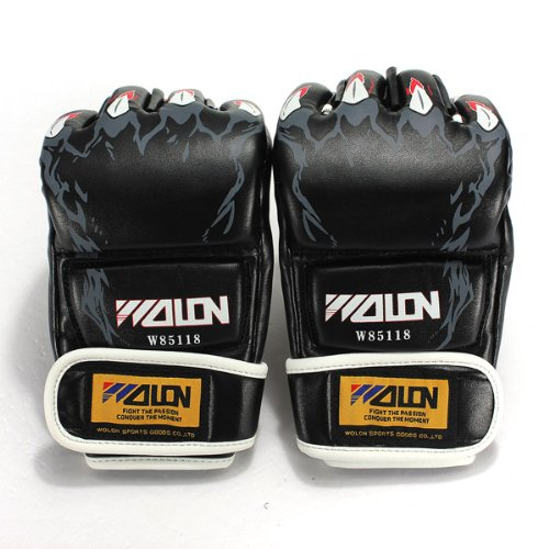 Super MMA Grappling Boxing Mitts Leather Gloves