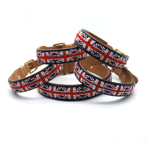 Union Jack Red White & Blue on Tan - SALE
