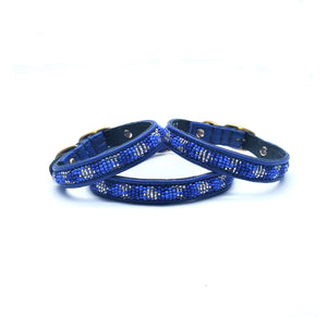 Diamonds Blue on Navy - NEW