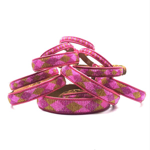 Diamonds Pink and Gold collar all sizes
