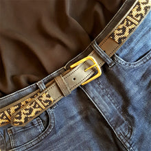 Leopard Black & Gold Belt - Available to Order