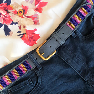 Navy Pink & Gold Belt- XMAS SALE