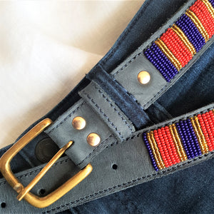 Navy Red & Gold Belt - XMAS SALE