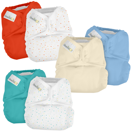 Elemental Joy Pocket Cloth Diaper Set - 6 Diapers + 6 Inserts