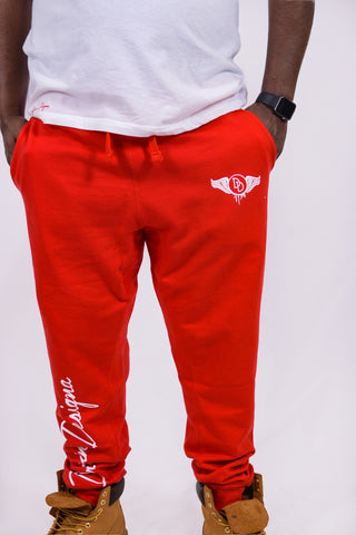 Classic Red & White Joggers