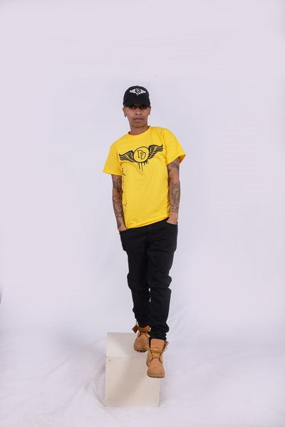 Side Tee Yellow & Black