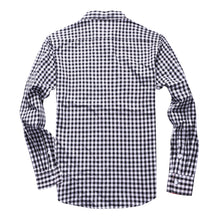 The Greyson Long Sleeve Gingham Plaid Shirt in Black