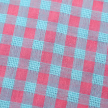 The Jason Short Sleeve Gingham Plaid Shirt in Pink/Blue