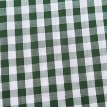 The Jason Short Sleeve Gingham Plaid Shirt in Green