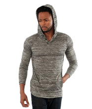 The Charleston Long Sleeve Hoodie in Dark Grey
